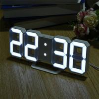 Moseko Jam Meja LED Digital Clock - TS-S60-W