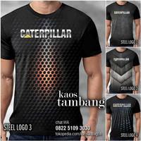 KAOS CATERPILLAR Logo Baju Kaos Tambang ALAT BERAT Distro Premium