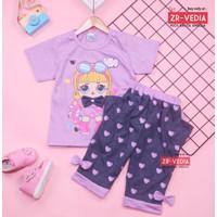 Setelan Lisa uk 1-8 Tahun / Baju Harian Anak Perempuan Kaos Cewek
