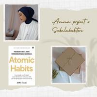 buku atomic habit james clear noriginal dan hijab voal amma