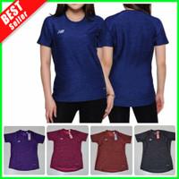 NEW Sport Tshirt Baju OlahRaga Wanita Kaos Lari Gym Yoga Senam Fitness - Biru Benhur, S