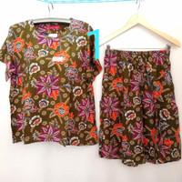 Setelan Kulot Kencana ungu label merah maxi 85 - baju tidur batik