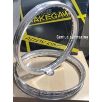 Velg Takegawa W Shape 160X160 Ring 17 Silver Series