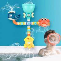 Baby Bath Toys Water Game Giraffe Crab Faucet Bathtub Shower