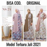 Original Nibras Terbaru Gamis Syari Motif Bunga Ns 74 ns 074 Promo