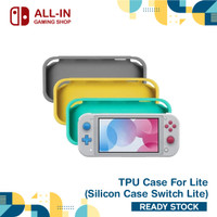 Nintendo Switch Lite TPU Soft Cover silicon Case Protector - Abu-abu