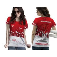 Kaos Baju Tshirt Wanita HUT RI 76 Merah Putih Kemerdekaan Indonesia - LENGAN PENDEK, S