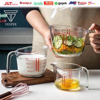 gelas takar kaca home baking tool / measuring cup glass 250ml 500ml 1L