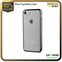 Muvit Casing iPhone 8 7 Crystal Bump Softcase Transparant Anti Crack - Bumper-Black