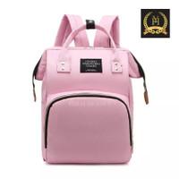 ] Tas Ransel Anello Tas Bayi Backpack Mom&Baby Bag Diaper Bag - Pink