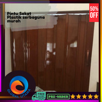 Pvc Folding Door pembatas ruangan murah | folding gate murah