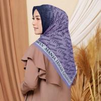 Terbaru !! Hijab Voal Segi Empat Motif IGUN Lillac Jilbab Voal