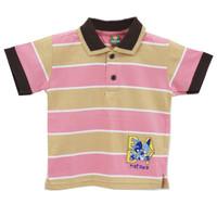 Natawa Kaos Wangky Anak Kecil Salur Coklat Pink