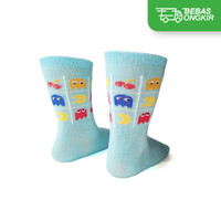 Kaos Kaki Casual Anak Premium Organic Cotton - Kaia Socks Pacman Motif