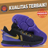 Sepatu Basket Sneakers Nike Lebron Witness 5 Lakers BLACK PURPLE GOLD