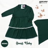Baju Muslim Bayi Perempuan / Gamis Balita Perempuan untuk 3 - 18 Bulan