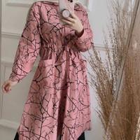 Baju Atasan Wanita Terbaru Lengan Panjang Raka Tunik Muslim Termurah