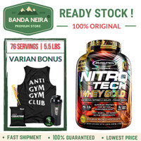 MuscleTech NitroTech 100% Whey Gold Protein - CHOCOLATE, 5.5 LBS