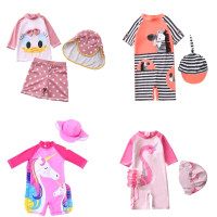 Baju renang jumper flamingo anak, Unicorn swimsuit, Pakaian renang