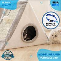 Tempat Tidur Bantal Kasur Kandang Rumah Kucing Pet Bed Portable 3in1