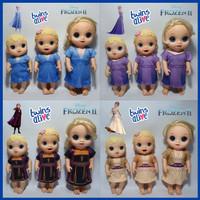 Baju Boneka Baby Alive MellChan Belinda Animator Frozen 2 Elsa Anna