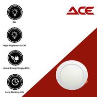 SINTE ACE Downlight Panel LED 3W Putih Lampu Ceiling Plafon 3 Watt