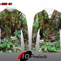 PRE ORDER baju camo motif rumput+berburu+panjang