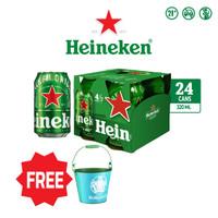 Heineken Beer 320ml Can 24 Packs + FREE Exclusive EURO Ice Bucket