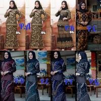 Setelan Baju Batik Rnb Wanita Design Slimfite Rok + Blouse Modern