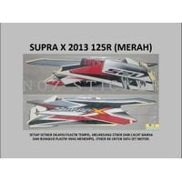 STIKER SUPRA X 2013 125R Honda List Striping Sticker Lis