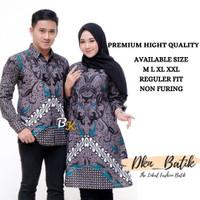 Baju Batik Couple Pasangan Couple Batik Keluarga Sarimbit Batik Modern