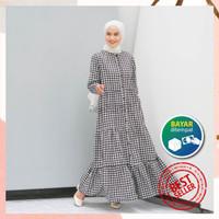 Luxury Homey Dress Tartan By Reyscarf Bahan Katun Premium-Gamis Dewasa