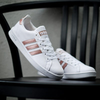 Sepatu Wanita Adidas Grand Court White Rose Gold Original - Putih, 36