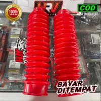 Karet Shock Depan KLX 150 L/S/G Warna Merah Trail Boot HRV Universal