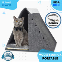 Kasur Kucing Tempat Tidur Rumah Kandang Pet Bed Bantal Kucing Portable