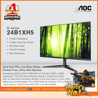 AOC 24B1XH5 24 IPS 75Hz 1920X1080p FRAMELESS LED MONITOR 24 Resmi