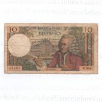 Uang kuno prancis 1968,10 franc
