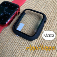 Apple Watch Tempered Glass PC Case Full Front Cover Series SE 6 54321 - BLACK, 38mm