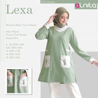 BAJU ATASAN kaos wanita muslim lengan panjang lexa alnita