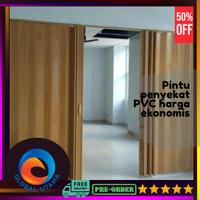 Pintu Pvc folding door pembatas ruangan | Pintu penyekat |Folding Gate