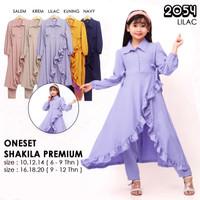 ( 6 - 12 tahun ) baju dress anak perempuan tangung setelan katun rayon