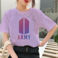 Baju Kaos Atasan Tshirt Wanita BTS ARMY BT21 Wanita Oversize Kekinian