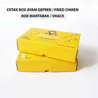 CETAK BOX AYAM GEMPEK/FRIED CHIKEN/MARTABAK/SNACK