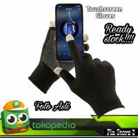 sarung tangan kain hitam 3pcs touch screen sarung tangan - Hitam