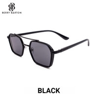 Kacamata Hitam Sunglasses Lensa Photocromic Buat Unisex Kotak - Black, Anti UV400