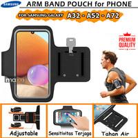 Samsung A32 A52 A72 Armband Arm Band Sport Sarung Case Hp Lengan Lari - A32