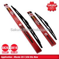 Sakura Wiper Honda HR-V isi 1 set (kanan kiri) SK26 dan SK16