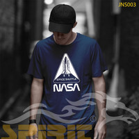 KAOS TERBARU NASA SPACE SHUTTLE KAOS PRIA WANITA SATUAN GROSIRAN - XS