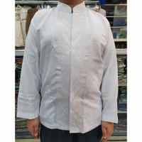 Baju Taqwa / Baju Koko Anak dan Remaja Putih Lengan Panjang Katun