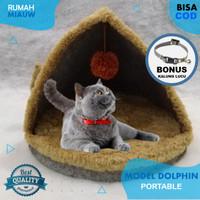 TempatTidur Kucing Pet Bed Bantal Kucing Rumah Miauw Dolphin Portable